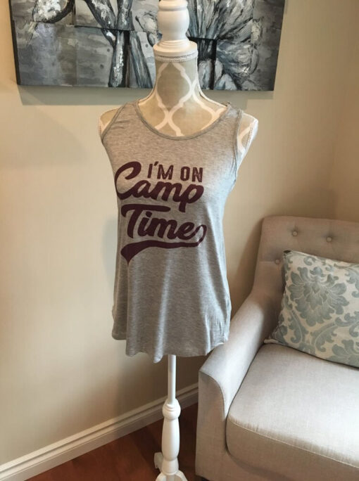 I'm on Camp Time Tank top from Bright-Eyed and Beautiful Fashion Boutique