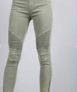 Moto Cropped Jeggings shown in Olive colour found at Bright-Eyed & Beautiful fashion boutique