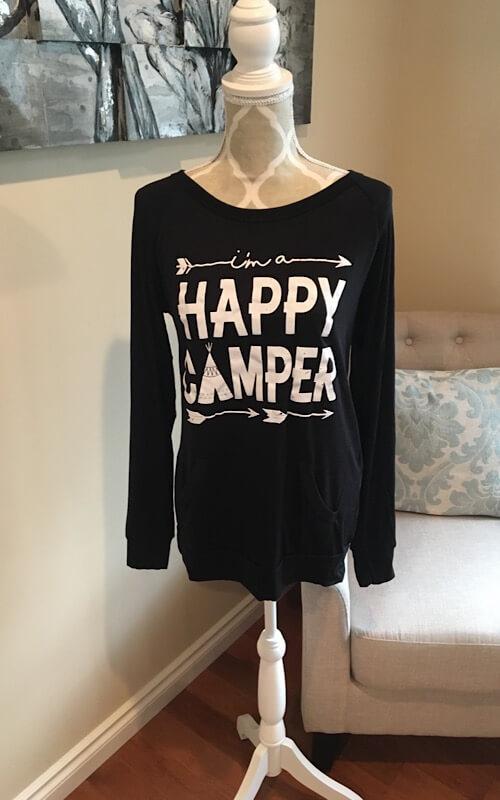 Happy camper long sleeve Top