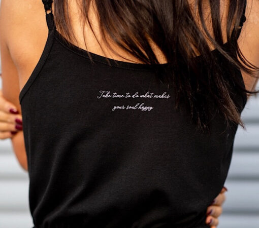 Take time Jumpsuit, Inspirational quote, Black Jumpsuit