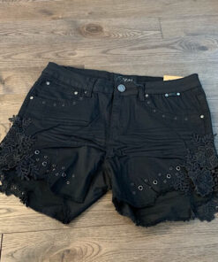 Black lace side shorts