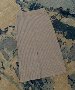 knit Ribbed Skirt