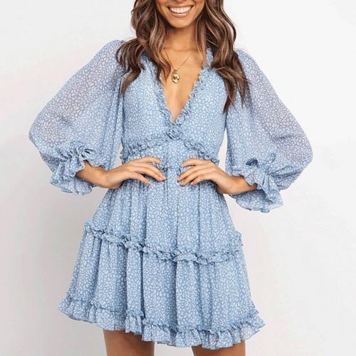 Brook Blue Chiffon Dress